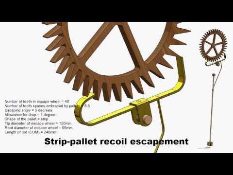 Recoil Escapement using strip pallet