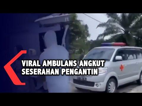 viral ambulans untuk mengangkut seserahan pengantin di plaju palembang sumatera selatan
