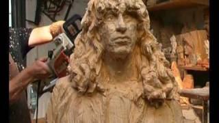 SculptureàlatronçonneuseparleMaîtreJürgenLinglRebetz:réalisationd'unportraitpart3
