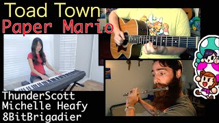 Toad Town (Paper Mario) Cover | MichelleHeafy, ThunderScott, 8BitBrigadier