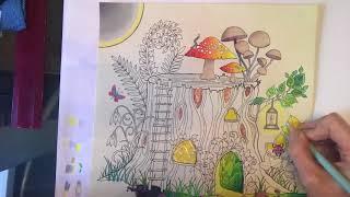 Tutorial 3 Johanna Basford Enchanted Forest Tree House