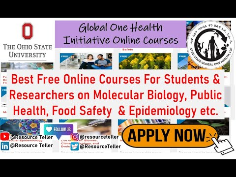 Free Online Courses in Epidemiology, Health Science & Molecular ...