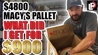 Buying and Unboxing a Macy's Returns Pallet to Sell on eBay & Amazon!