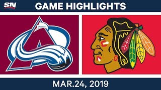 NHL Game Highlights | Avalanche vs. Blackhawks – March 24, 2019