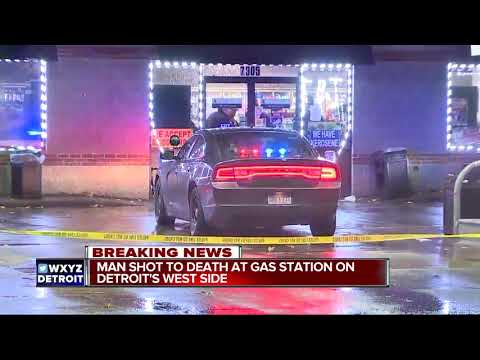 Man shot to death at gas station on Detroit's west side