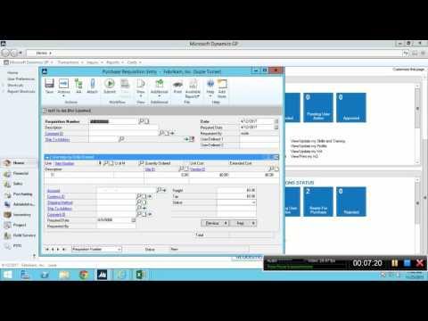 Microsoft Dynamics GP Training - YouTube