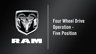 Four Wheel Drive Operation - Five Position | How To | 2020 Ram 1500 DT