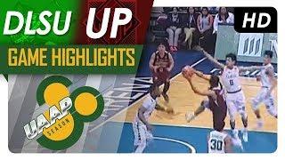 DLSU vs. UP | Game Highlights | UAAP 80 Men's Basketball | September 23, 2017