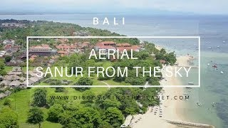 SANUR BEACH IN BALI FROM THE SKY