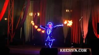 День города Зельва. 2015г светодиодные костюмы.