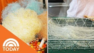 Homemade Cotton Candy Spider Webs | TODAY
