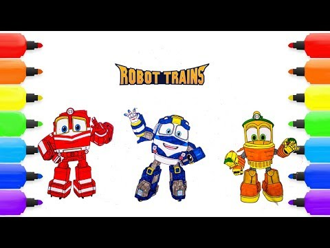 ROBOT TRAIN Coloring Pages