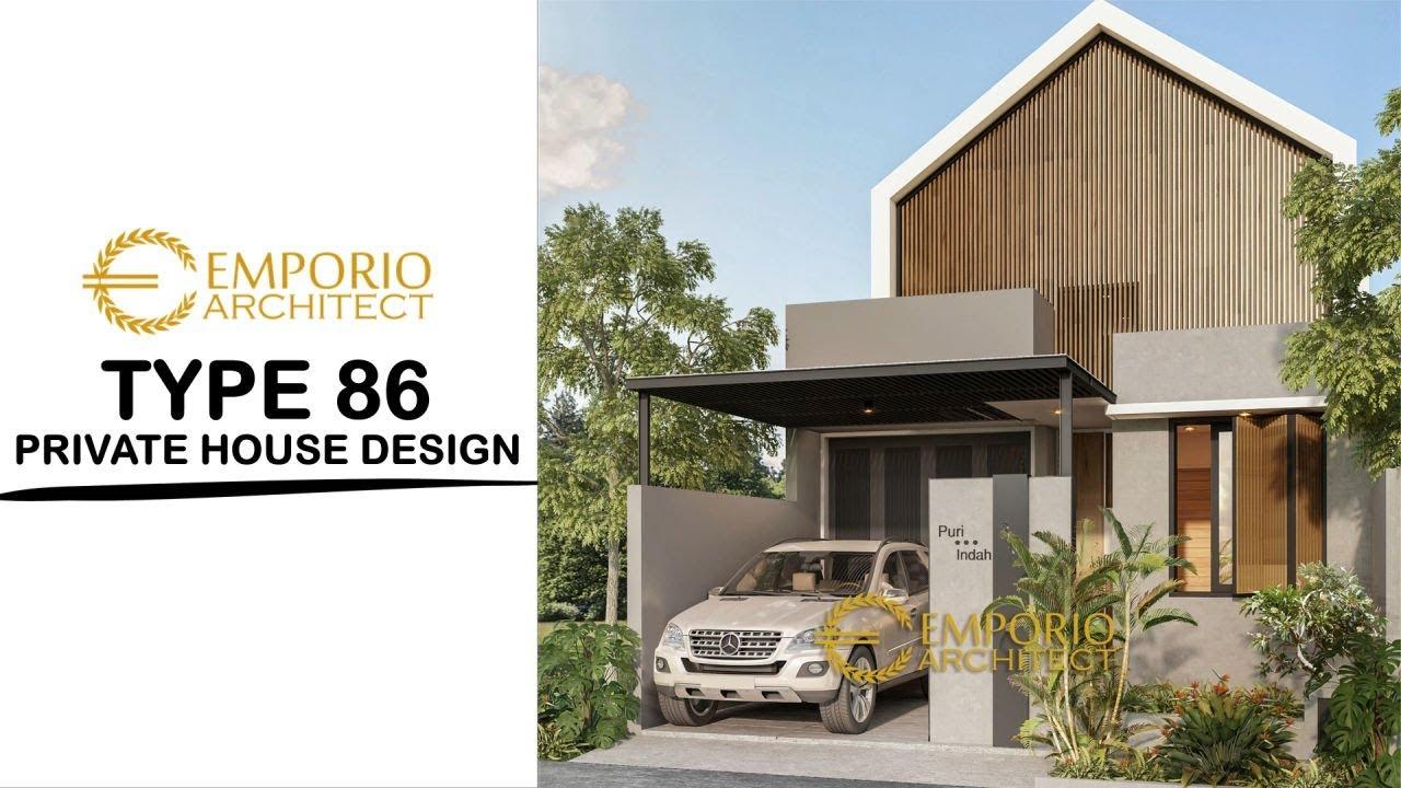 Video 3D Desain Rumah Modern 1 Lantai Type 86  di Bintaro, Tangerang Selatan, Banten