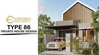 Video Modern House 1 Floor Type 86 Design - Bintaro, Tangerang Selatan, Banten