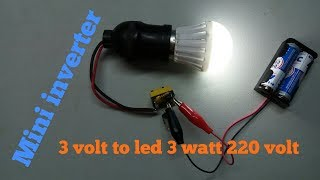 Download Video Mini inverter 3 volt to led 3 watt 220 volt MP3 3GP MP4