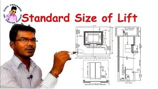 Standard Size of Lift || Standard Elevator Shaft Dimension ||