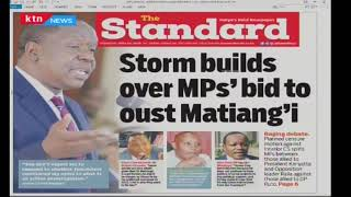 Storm builds over MPs bid to oust Matiang'i | Press Review