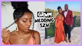 GRWM WEDDING SEASON | MAKEUP, HAIR, OUTFIT!