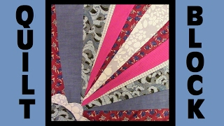 Quilt Block Party - Block 3: Corner Bloom - Crazy Quilt Block Tutorial