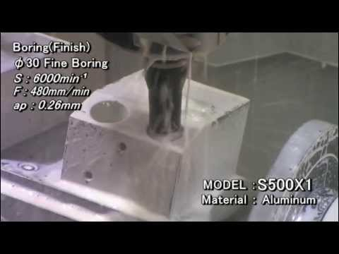 S500X1 Machining example (Aluminium)