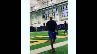 TARIK BLACK CATCHES IT ONE HANDED FALLING OVER....