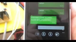 GSM KONTROLLU SOLAR SULAMA SISTEMI