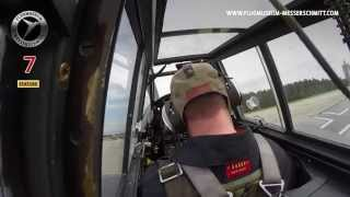 preview picture of video 'Me 109 G-4 Red 7 in 2014 / 1. start after crash at Roskilde Airshow / TAKE A CLOSER LOOK!'