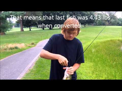 Golf course pond Big bass 8.23.13