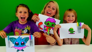 3 marker challenge Sofie Melody och Chanell in Swedish