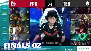 FunPlus Phoenix vs Top Esports - Game 2   Finals 2020 LoL Mid Season Cup   FPX vs TES G2