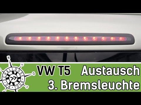 VW T5 Dritte Bremsleuchte auswechseln (Heckklappe) || SCHALLDOSE ON TOUR