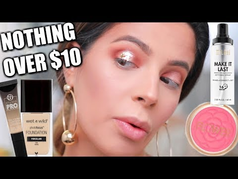 FULL FACE NOTHING OVER $10 | AFFORDABLE MAKEUP TUTORIAL