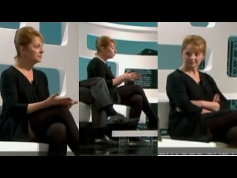Catherine Gerst Stockings on TV - Gorgeous Woman