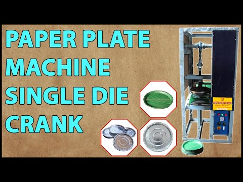 Single Die Crank Paper Plate Making Machine