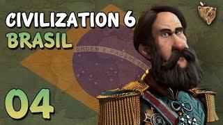 "Civilization 6 Brasil #04 ""Problemas Bárbaros"" - Vamos Jogar Gameplay Português PT-BR"