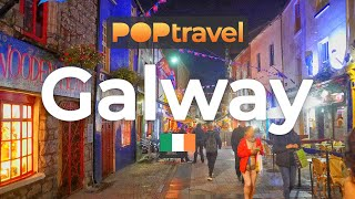 Walking In GALWAY / Ireland 🇮🇪- Night Tour In The Centre - 4K 60fps (UHD)