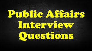 public relations interview questions and answers - 免费在线