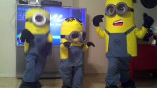 Dispicable Me: Homemade Minions Costumes 2012 Getting Down!!