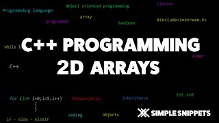 2D Arrays in C++ | 2D array addition & Subtraction