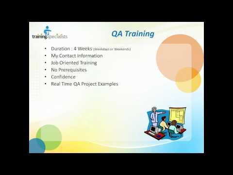 QA Training Course Outline