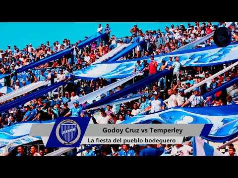 """""""Hinchada: Godoy Cruz 3-0 Temperley"""" Barra: La Banda del Expreso • Club: Godoy Cruz"""