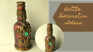 Antique Bottle Art / Glass Bottle Crafts