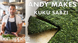 Andy Makes Kuku Sabzi (Persian Frittata) | From the Test Kitchen | Bon Appétit