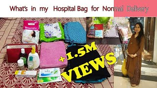 My Hospital bag packing list for Normal Delivery | Hospital bag checklist for summer in India