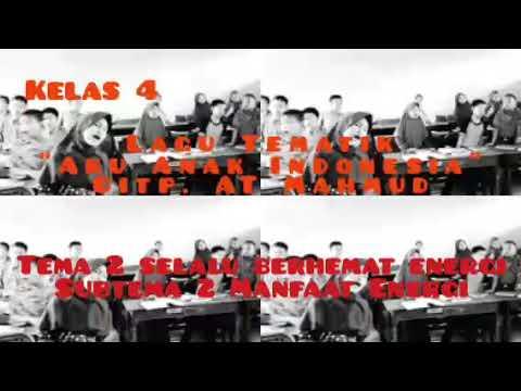 Kelas 4 Lagu Aku Anak Indonesia | Tema 2 Selalu Berhemat Energi Subtema 2 Manfaat Energi