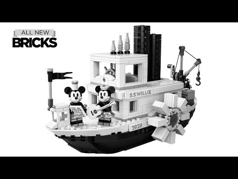 Vidéo LEGO Ideas 21317 : Steamboat Willie