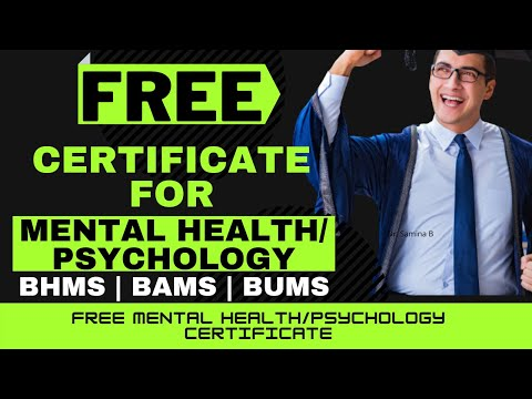 FREE COURSES FOR MENTAL HEALTH & HUMAN PSYCHOLOGY
