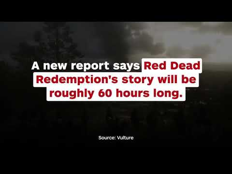 Red Dead Redemption 2's campain is around 60 hours long - ign news