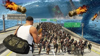 GTA 5 - EVERY Natural Disaster EVER!! (Tsunami, Zombies, Meteor Shower, Earthquake & More)