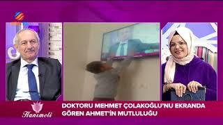 Doktorunu ekranda gören Ahmet'in mutluluğu